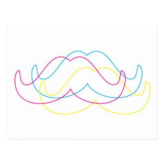 diseño del bigote del cmyk postal