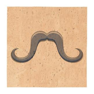 Diseño del bigote del manillar del dibujo animado posavasos