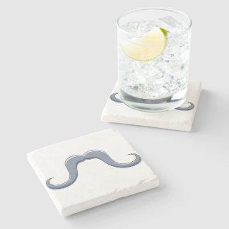 Diseño del bigote del manillar del dibujo animado posavasos de piedra