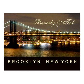 Diseño del boda de Brooklyn Nueva York Postal