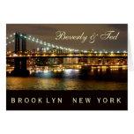 Diseño del boda de Brooklyn Nueva York Tarjetón