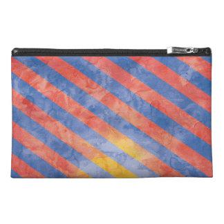 Diseño del bolso de la cremallera de las rayas de