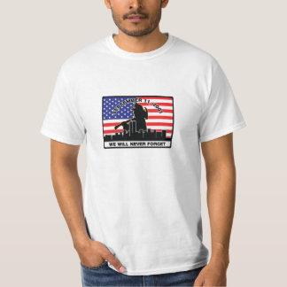 Diseño del bombero de la original 9/11 camisas