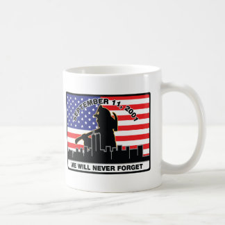 Diseño del bombero de la original 9/11 taza