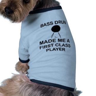 diseño del bombo camiseta con mangas para perro