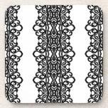 Diseño del bordado del cordón del práctico de cost posavasos