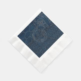 diseño del bordado del Sashiko-estilo - Servilleta De Papel