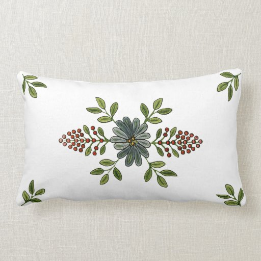 Diseño del bordado del vintage cojin
