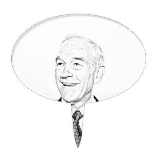 Diseño del bosquejo de Ron Paul Decoración De Tarta