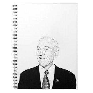 Diseño del bosquejo de Ron Paul Libros De Apuntes