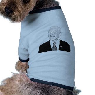 Diseño del bosquejo de Ron Paul Camisas De Mascota