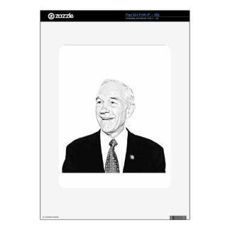 Diseño del bosquejo de Ron Paul iPad Calcomanías
