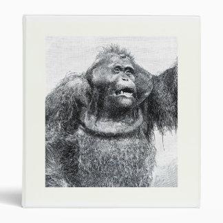 Diseño del bosquejo del dibujo del primate del gor