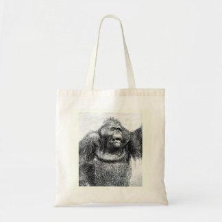 Diseño del bosquejo del dibujo del primate del gor bolsa tela barata