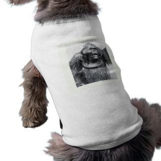 Diseño del bosquejo del dibujo del primate del gor playera sin mangas para perro