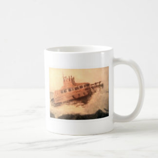 Diseño del bote salvavidas de Sonya Moikeenah Taza De Café