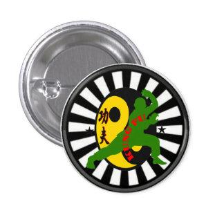 Diseño del botón de Kung Fu por el granero de Joe Pin Redondo De 1 Pulgada
