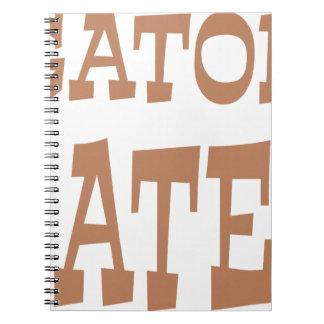 Diseño del bronce del enemigo del cocodrilo cuadernos