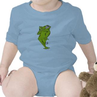 Diseño del bugle de la rana que sopla trajes de bebé