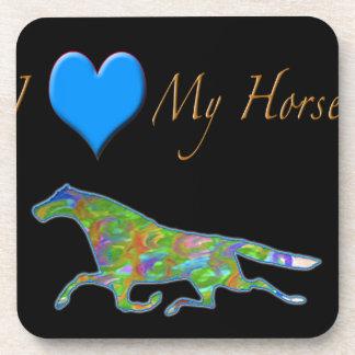 "Diseño del caballo ""amo caballos "" posavaso"