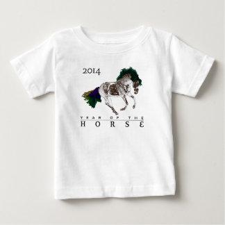 Diseño del caballo creado exclusivamente para 2014 playera de bebé
