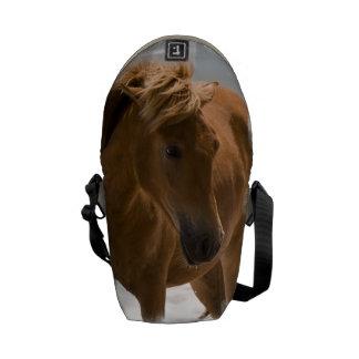 Diseño del caballo de la castaña bolsas de mensajería