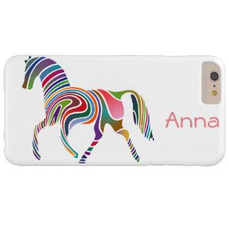 Diseño del caballo del arco iris funda de iPhone 6 plus barely there