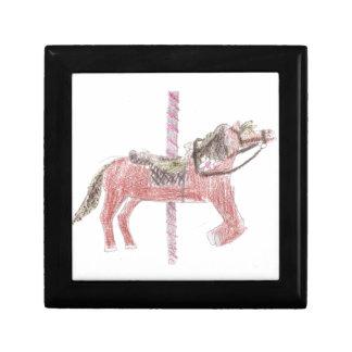 Diseño del caballo del carrusel caja de recuerdo