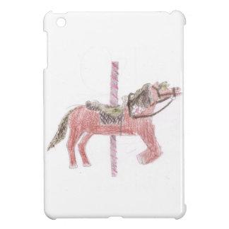 Diseño del caballo del carrusel iPad mini carcasas