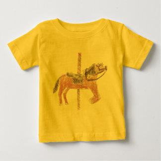 Diseño del caballo del carrusel playeras