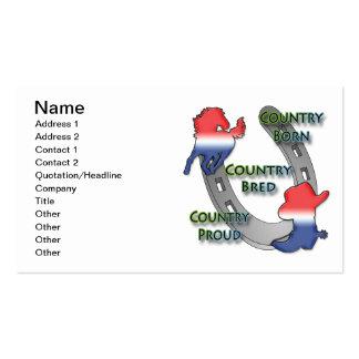 Diseño del caballo y de la bota tarjetas de visita