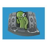 Diseño del cactus de DJ Tarjeta Postal