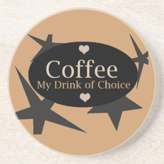 Diseño del café posavasos personalizados