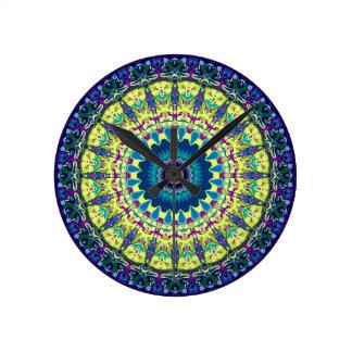diseño del caleidoscopio de Ivanna del efecto 3D Relojes De Pared