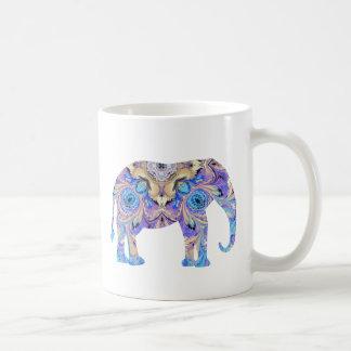 Diseño del caleidoscopio de la taza del elefante