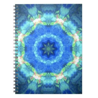 diseño del caleidoscopio imagen-azul y azul note book