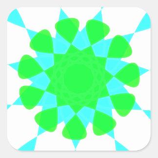 diseño del caleidoscopio pegatina cuadrada