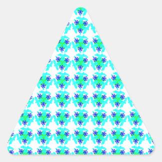 diseño del caleidoscopio pegatina triangular