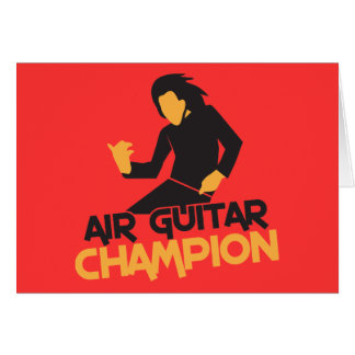 Diseño del campeón de Air Guitar Tarjeton
