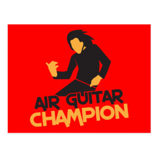 Diseño del campeón de Air Guitar Postal
