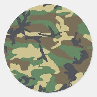 Diseño del camuflaje del arbolado pegatina redonda
