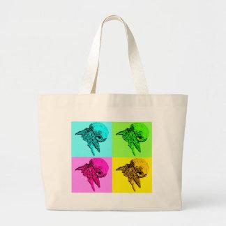 Diseño del cangrejo de ermitaño de la viola del ar bolsa de tela grande