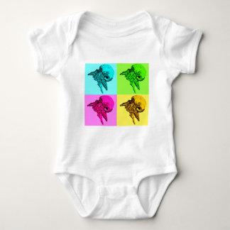 Diseño del cangrejo de ermitaño de la viola del body para bebé