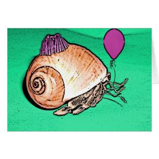 Diseño del cangrejo de ermitaño del fiesta tarjeta de felicitación