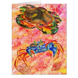 Diseño del cangrejo toda la tarjeta de