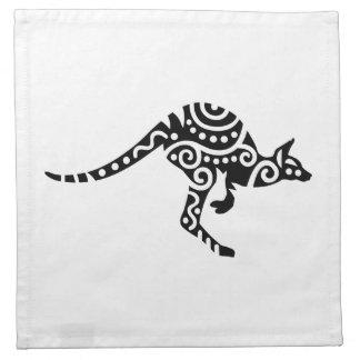 Diseño del canguro servilletas