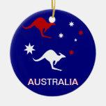 Diseño del canguro y de la cruz del sur de Austral Ornamentos De Reyes Magos