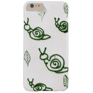 Diseño del caracol y de la hoja de Absract Funda Barely There iPhone 6 Plus