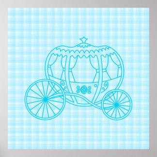 Diseño del carro del cuento de hadas en azules tur impresiones