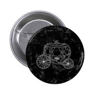 Diseño del carro del cuento de hadas en negro y gr pin